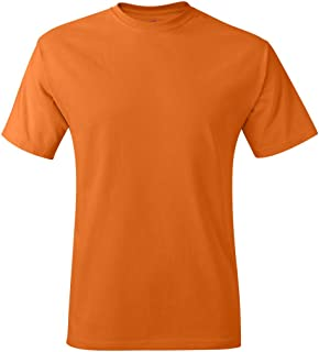 Hanes Mens Tagless TShirt , Orange, Size L