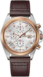Swiss Military - 06-4202.1.12.001 - Reloj para Hombres, Correa de Cuero Color marrón