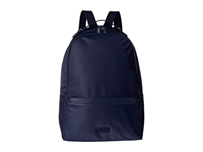 Lipault Paris Lady Plume Medium Backpack (Navy) Backpack Bags