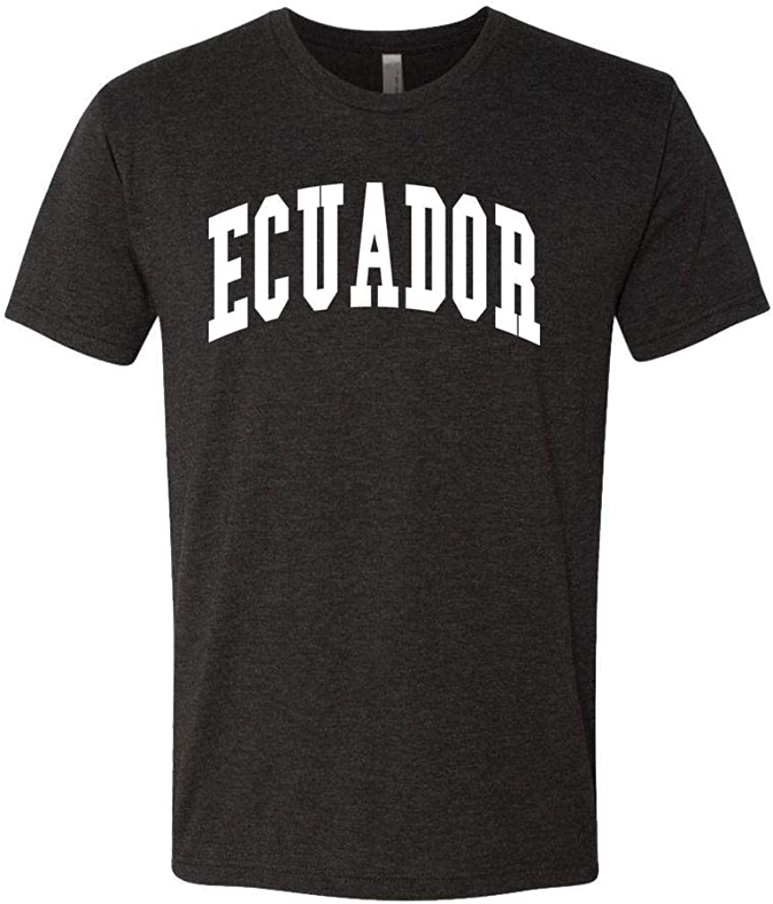 Ecuador - Country Pride Homeland Nation - Unisex Next Level Tee, XL, TRI-Blend Black