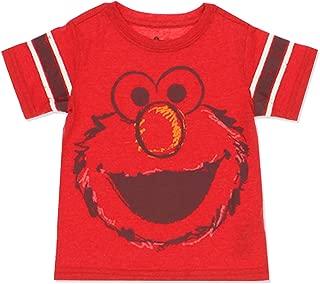 Sesame Street Elmo Baby Toddler Boys Short Sleeve Tee (3T, Red/Multi)