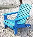 DanDiBo Strandstuhl aus Holz Blau Gartenstuhl klappbar Adirondack Chair Sonnenstuhl