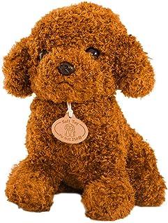 STOBOK Hora de Dormir, bebé, niños, Dormir, Peluche, Perro, Juguetes, Lindo, Suave Felpa, caniche, Peluche, Perro, Figura (marrón Claro)