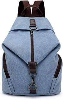 MiCoolker Rucksack für Frauen, Segeltuch, Vintage, Studenten, Schulranzen, Reisetasche, Tagesrucksack