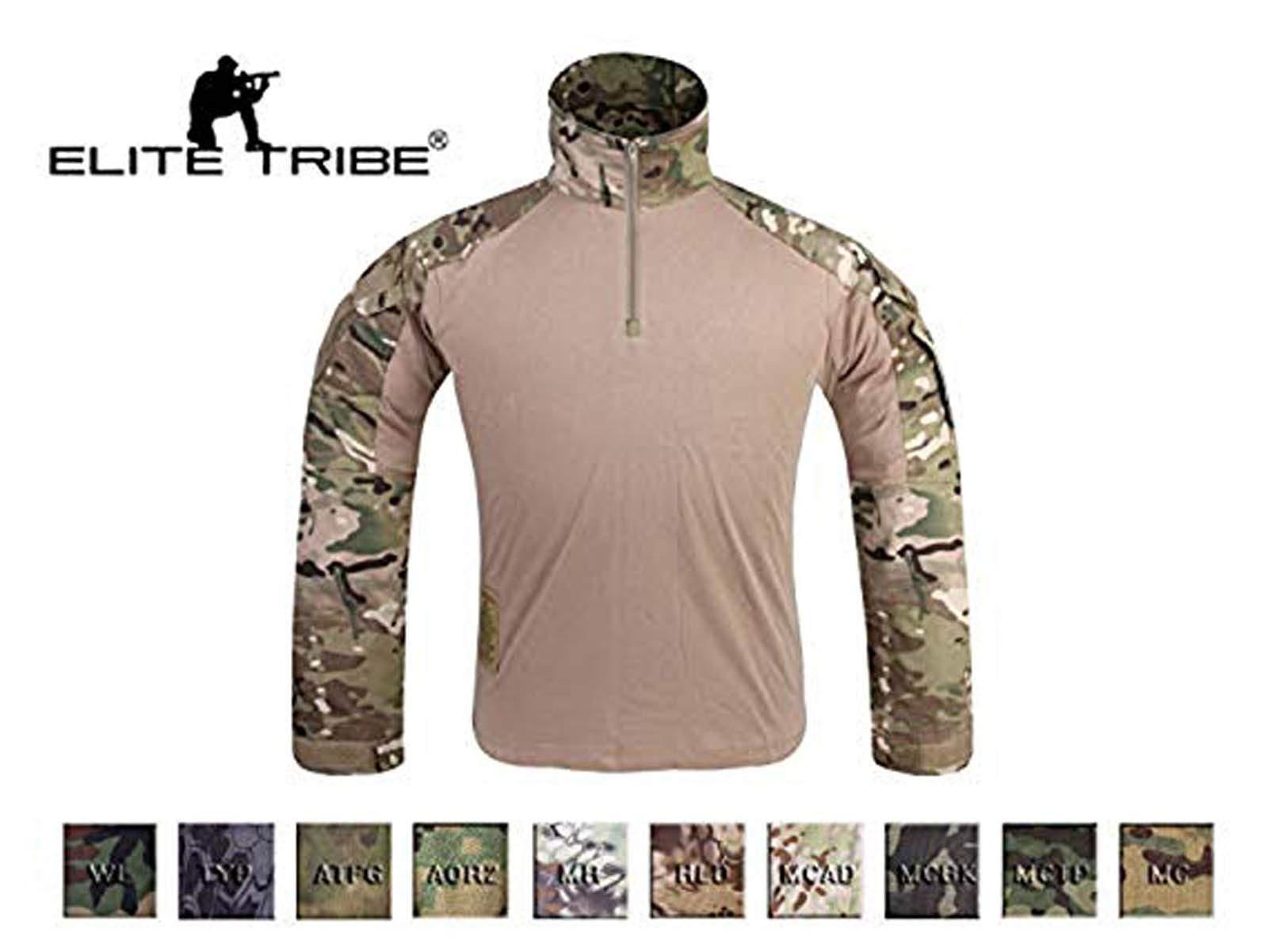 Elite Tribe Emersongear G3 Camisa de Combate táctica Militar BDU Airsoft, Color Bosque, tamaño Large: Amazon.es: Deportes y aire libre