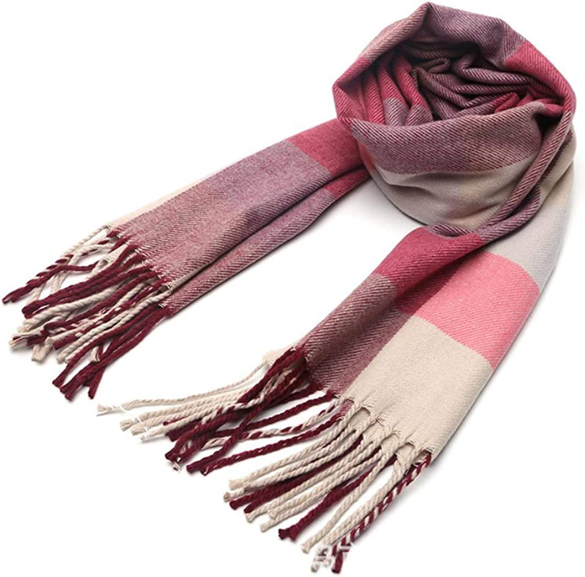 Kids Stylish Plaid Scarf Max 86% OFF Product Cashmere Warm Scarves Feel Soft Winter