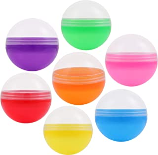 Empty Clear-Colored Round Vending Machine Capsules 1.1 Inch 50 Ct Bulk 7 Colors Plastic Capsule For Toy Gumball And Bouncy Ball Machines