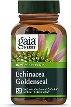 Gaia Herbs Echinacea Goldenseal, Vegan Liquid Capsules, 60 Count - Immune Support and Healthy Inflammatory Response During Seasonal Stress, Made with Organic Echinacea