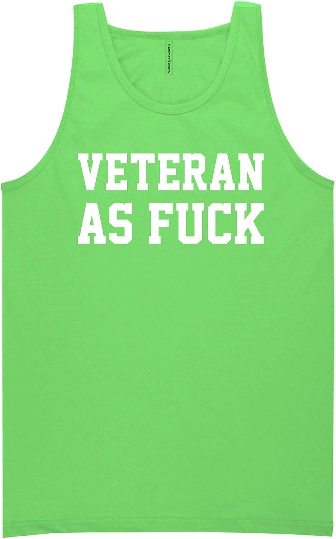 Veteran As Fuck Neon Tank Top