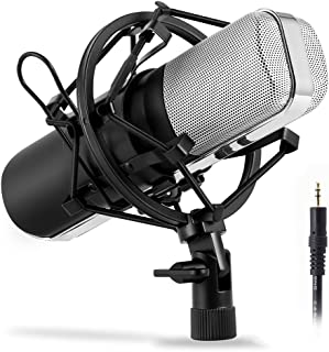Professional Condenser Microphone for Singing and Recording, Podcast Microphone,Cardioid Microphones for Recording Studio ...