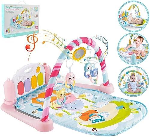 KDDD - Alfombrilla de Juego para bebé, para Fitness, Culturismo, Pedal, Piano, Pedal, Piano, para Niños, portátil, Ligera, con Arcos Desmontables para bebés y Niños pequeños