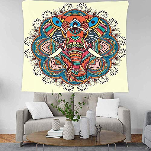 EDLSYDecoratie tapijt wandkleden EDLSY olifant bescherming decor kunst huis slaapkamer woonkamer slaapzaal wandtapijten creatief cadeau (200 x 150cm india)