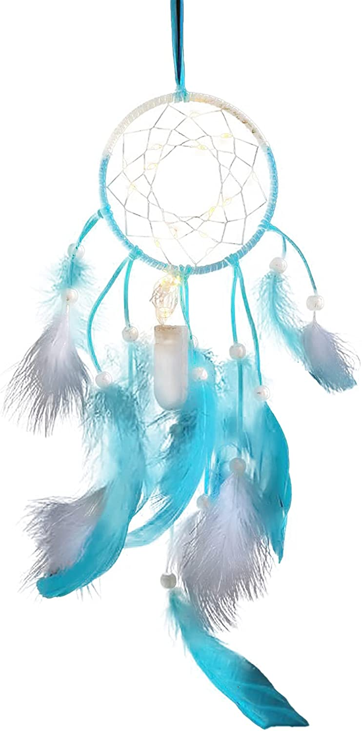 Newrys Ranking TOP4 Dream Catcher Feathers Eye-catching Decor Max 74% OFF Beads Hanging