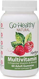 Go Healthy Natural Multivitamin Gummies for Women and Men, Vegetarian, Halal, OU Kosher (60 ct) 30 Servings Immune Support...