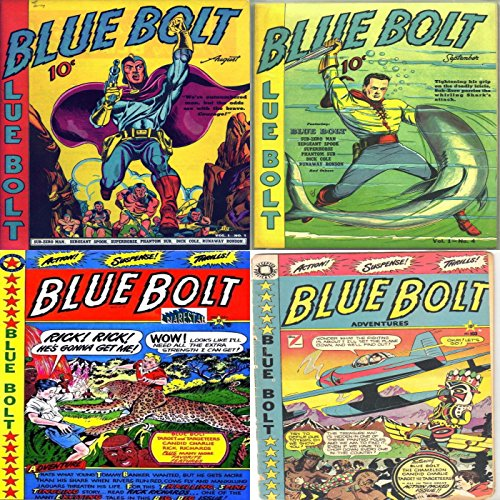 Blue Bolt. Issues 3, 4, 102 and 103. Includes Sub-zero man, seargent...