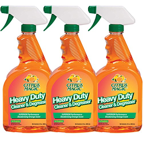 Citrus Magic Heavy Duty Cleaner and Degreaser, Pack of 3, 32-Ounces Each