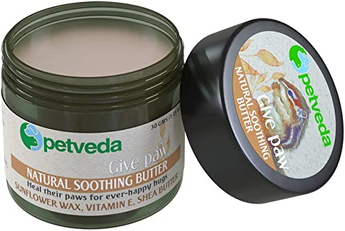 PETVEDA Ayurvedic Paw Cream for Dogs & Cats, Soothing Butter for Paws, Nose & Elbow, No Sulphate & Parabens. 30 GM. (...