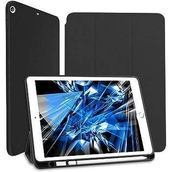Wonzir iPad 10.2 ケース iPad 8 ケース(2020モデル) iPad 第7世代 ケース (2019モデル) Apple Pencil 一代収納可能 スタンド機能 ipad 10.2 インチ (2019/2020秋発売新型) 保護カバー 軽量 薄型 シンプル 三つ折タイプ 全面保護型 傷つけ防止 アイパッド ケース10.2 2020 第8世代 カバー PU 便利なペンホルダー付き (ipad 10.2, ブラック)