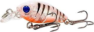 釣り餌 45ミリメートル4.3グラムトップウォーターミノー釣りルアー人工ハードベイト泳ぐ魚Wobblers浮動クランクベイト鯉釣りWW1108(カラー:Q)、カラー:C GZZXW (Color : N)