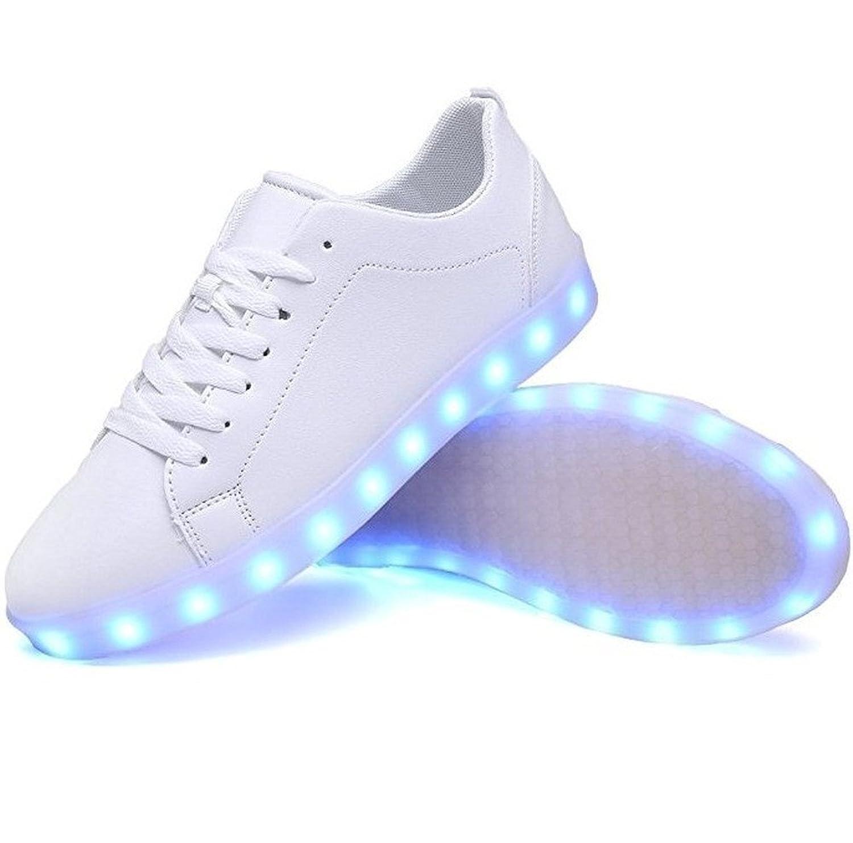 [M0N0liTH] メンズ レディース LED 光る シューズ スニーカー 靴 7色+4パターン 発光 USB充電