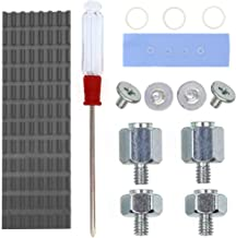 QTEATAK PCIe NVMe M.2 2280 SSD Heatsinks Cooler & Mounting Screws Screwdriver Kit