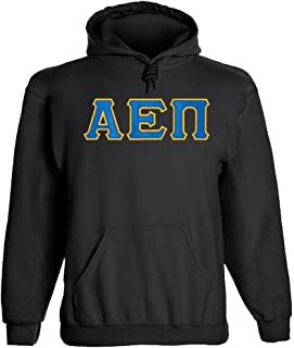 Fashion Greek Alpha Epsilon Pi Twill Letter Hoody
