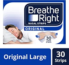 Breathe Right Snoring Congestion Relief Nasal Strips, Large, Original, 30 Strips