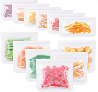 comprar comparacion Kollea Bolsas de Silicona Reutilizables 12 Pack, Bolsas de conservación, Bolsas de Silicona Preservación de Alimento Hermé...