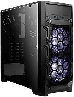 Antec GX202 Midi-Tower Negro - Caja de Ordenador (Midi-Tower, PC, De plástico, SPCC, Negro, ATX,ITX,Micro ATX, Juego)
