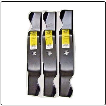"Set of 3 Mower Blades for 54/"" Craftsman Poulan Deck 187254 187256 532187256"