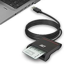 ACT USB Smart Card Reader, eID-Signatur Chipkartenleser, CAC Kartenleser, Power-LED-Status, kompatibel mit Windows und mac...
