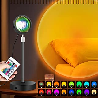 LONENESSL Sunset Lamp Projection Led Light,Night Light Projector Led Lamp, Romantic Projector for Home Party Living Room B...