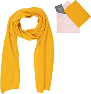 Cashmere Scarf for Women - 100% Pure Luxury Knitted Cashmere - Lightweight, Ultra Soft, Warm with Beautiful Silk Gift Bag