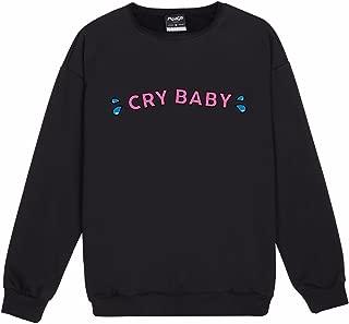 Cry Baby Sweater Top Sweatshirt Jumper Women's Pink Cute Goth Kawaii