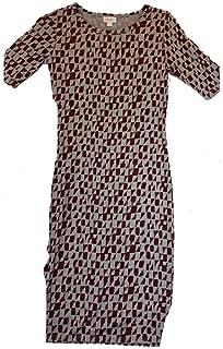Julia XX-Small XXS Grey and Maroon Geometric Form Fitting Dress fits Sizes 00-0