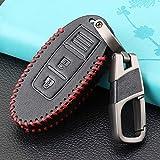 SDLWDQX Funda de piel para llave de coche, compatible con Nissan 350Z Qashqai J10 J11 X-Trail t31 t32 kicks Tiida Pathfinder Murano Note Juke, protector de llave de control remoto