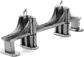 Metal Earth Fascinations MMS048 502572 Brooklyn Bridge Construction Toy 2 Board (Ages 14 +