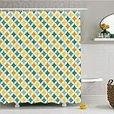CHENHAO Cortina de Ducha Lavable decoración geométrica Abstracto Colorido patrón Circular y en Forma...
