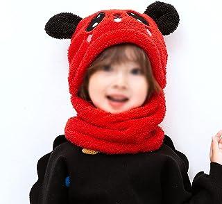 JJSPP Winter Children Hat Plus Fleece Kids Caps Cartoon Hat for Girls Boys Scarf Thicken Cap Newborn Photography Baby Stuf...