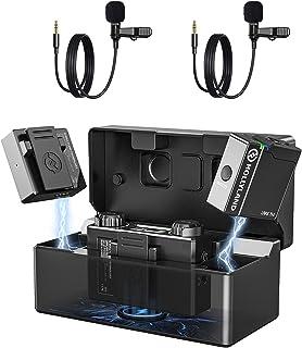 Wireless Lavalier Microphone 2.4G Dual-Channel Hollyland Lark 150 lapel mic with Charging Case,2&20g Ultra-Light Transmitt...