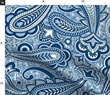 Spoonflower Stoff - Paisley Blau Navy Farbe Jahr Classic