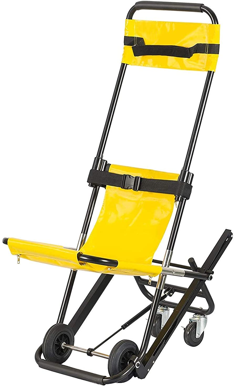 希望に満ちた物理百科事典EMS階段椅子、救急車消防士避難軽量医療折りたたみ持ち上げて階段椅子、EVAC +椅子、一人の操作は、容量を400lbs