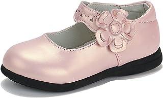 CCZZ Enfants Flat Princess Chaussures Fille Semelles Souples Mary Jane Ballerine Floral Décor Casual Chaussures en Cuir