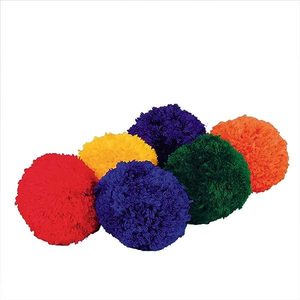 S S Worldwide Spectrum Fleece Balls Set Of 6