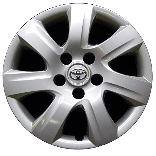 Genuine OEM Hubcap | Fits 2010-2011 Toyota Camry | Professionally Reconditioned Like-New | 16-inch Factory Replacement Wheel Cover | 61155