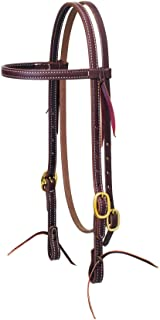 Weaver Working Cowboy Browband Headstall w/Brass