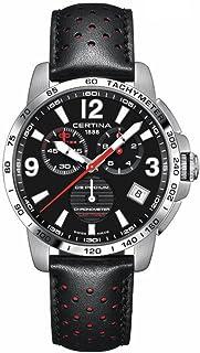 Certina - DS Podium C034.453.16.057.00 - Reloj analógico de cuarzo para hombre, correa de piel negra, correa de acero, 42 mm