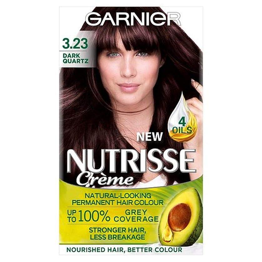 開発するマカダム陽気な[Garnier ] ガルニエNutrisse 3.23ダークブラウンの石英パーマネントヘアダイ - Garnier Nutrisse 3.23 Dark Quartz Brown Permanent Hair Dye [並行輸入品]