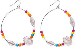 Flying Jewellery Brass Hoop Earrings, French Closure