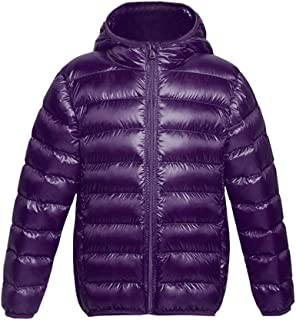 Xifamniy Infant Girls Long Sleeve Down Jacket Solid Color Zipper Hooded Fashion Coat